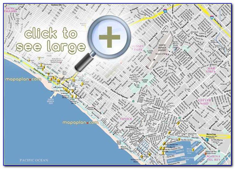 Los Angeles Top Tourist Attractions Printable City Street Map