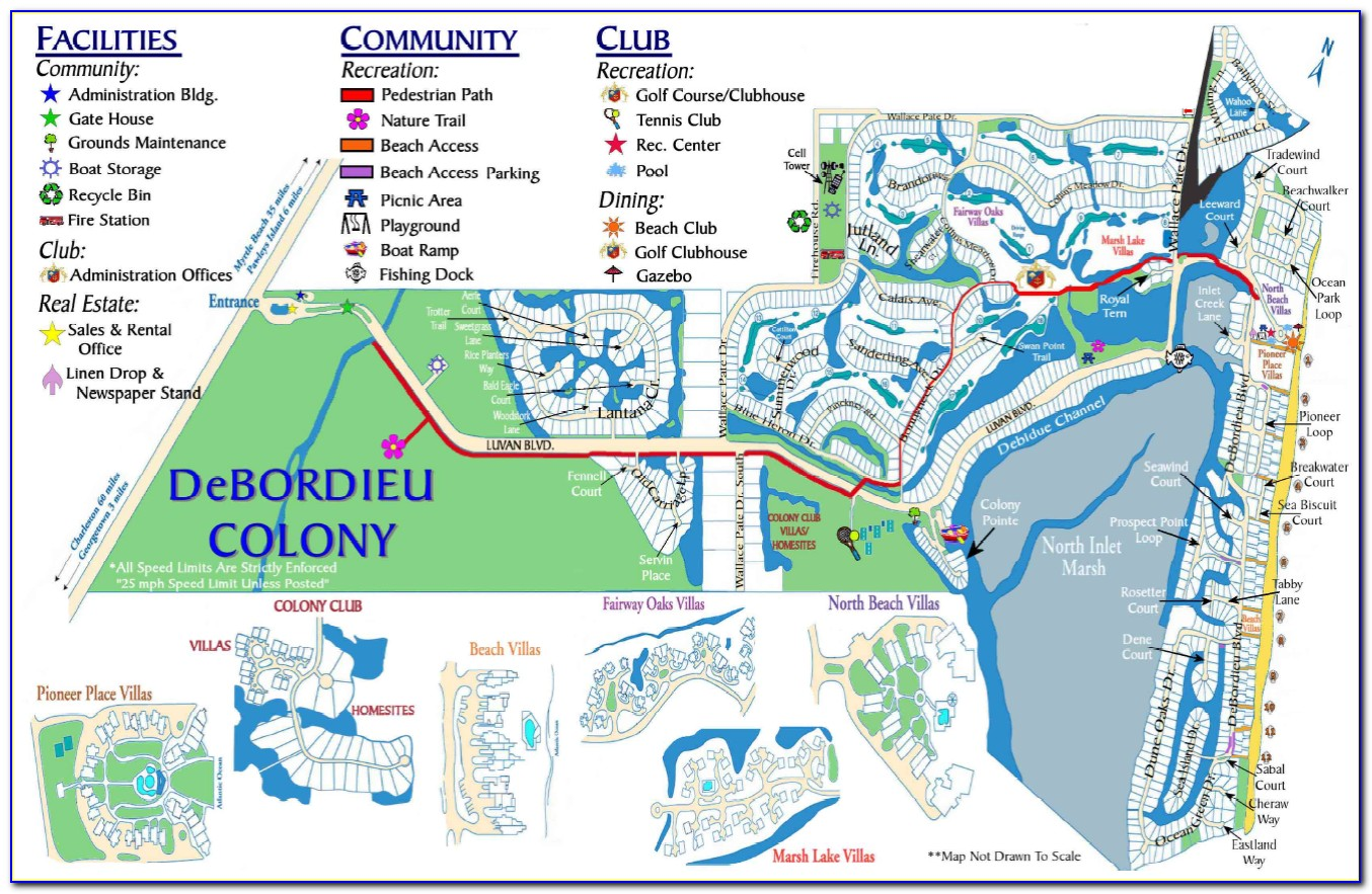 Map Of Hotels In South Myrtle Beach