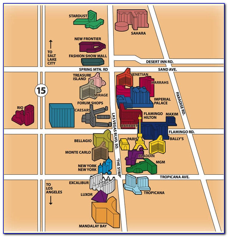 Map Of Hotels In Vegas Strip 2017