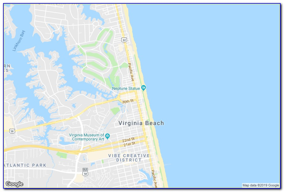 Map Of Hotels In Virginia Beach Va