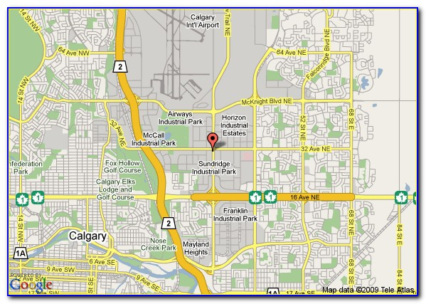 Map Of Hotels Near Calgary Airport