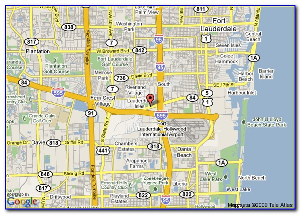 Map Of Hotels Near Ft Lauderdale Airport