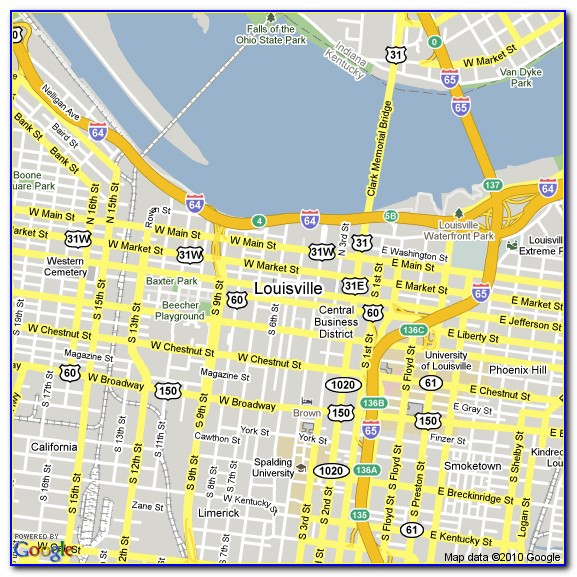 Map Of Hotels Near Louisville Ky