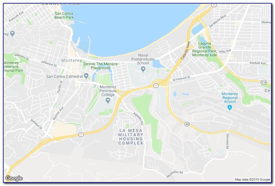 Map Of Hotels Near Monterey Ca