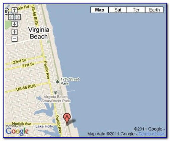 Map Of Hotels On Atlantic Avenue Virginia Beach