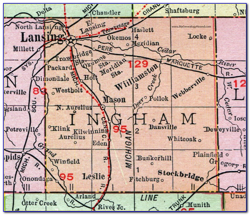 Map Of Ingham County Mi