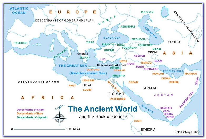 Map Of Israel Old Testament Times