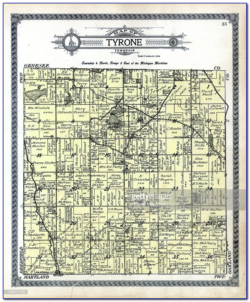 Michigan, 1915, Tyrone Township, Tyrone, Livingston County
