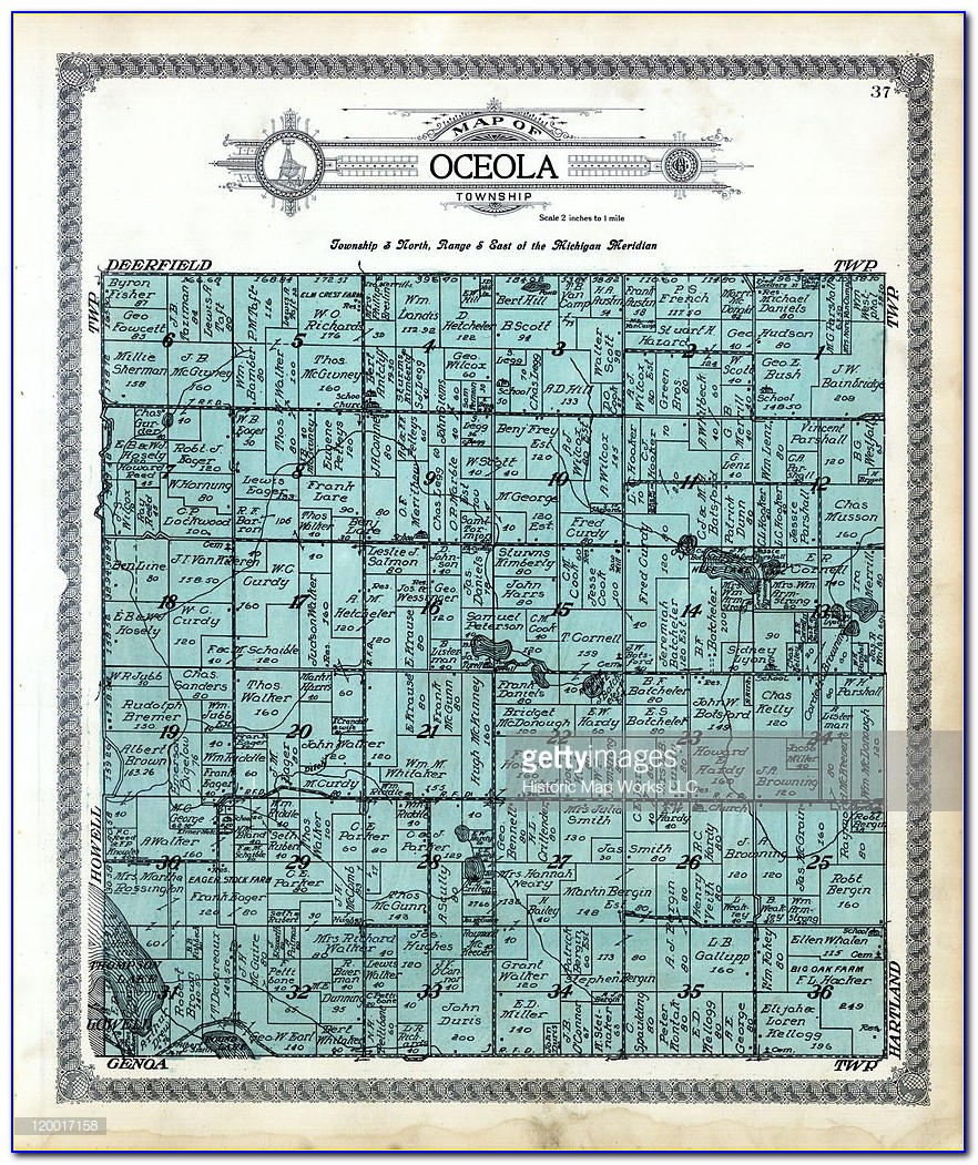 Michigan, 1915, Oceola Township, Oceola, Livingston County
