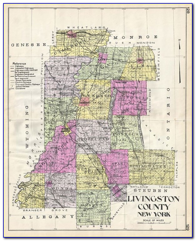 Map Of Livingston County New York