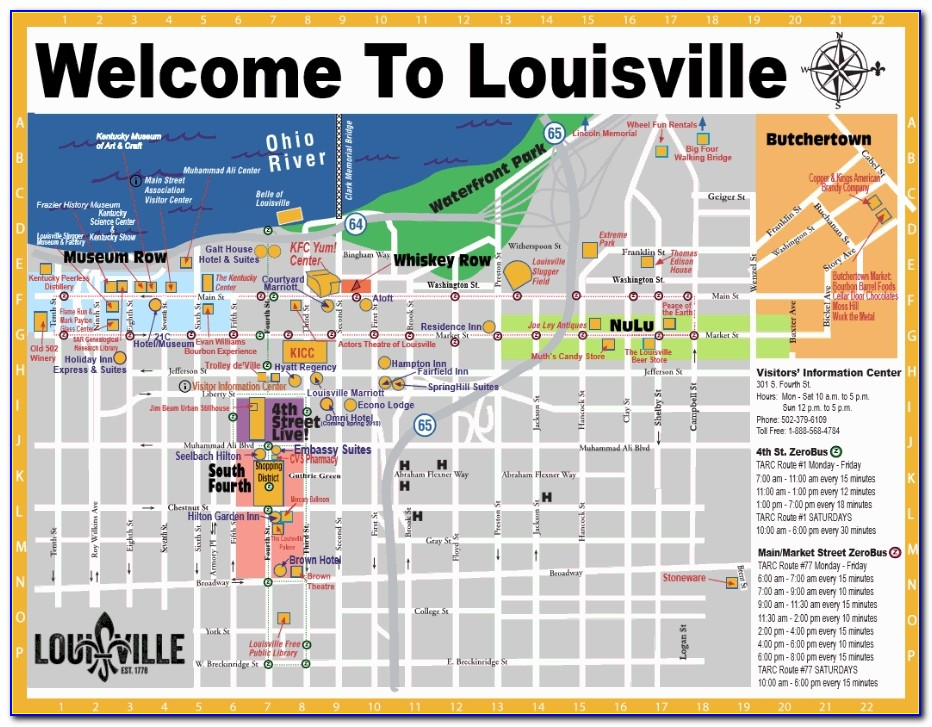 Map Of Louisville Ky Hotels