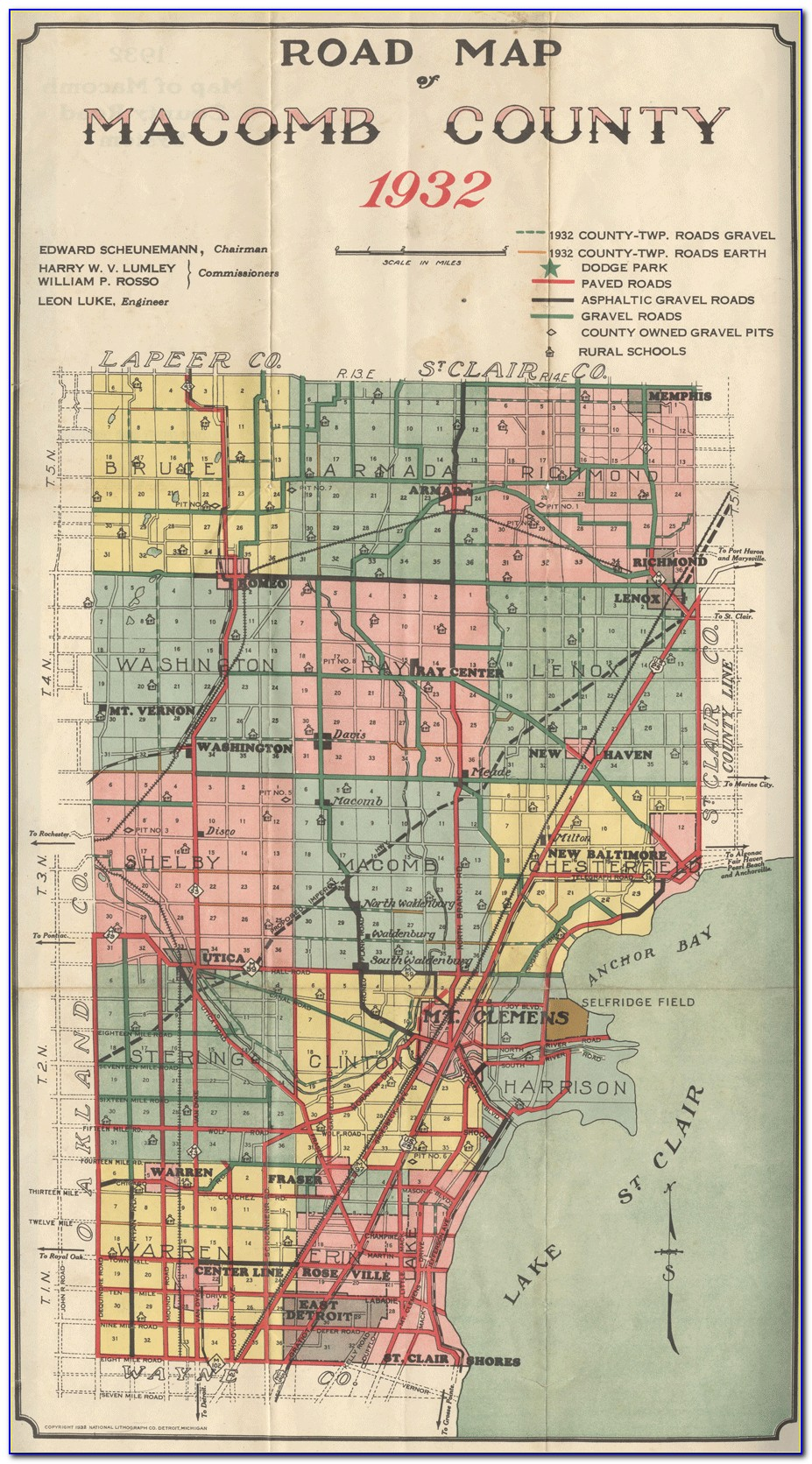 Map Of Macomb County Michigan