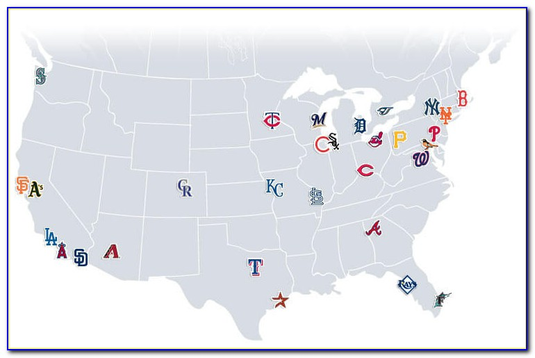 Map Of Major League Stadiums