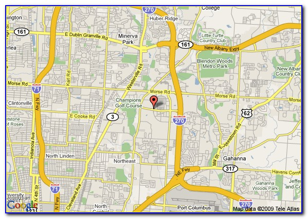 Map Of Marriott Hotels In Columbus Ohio