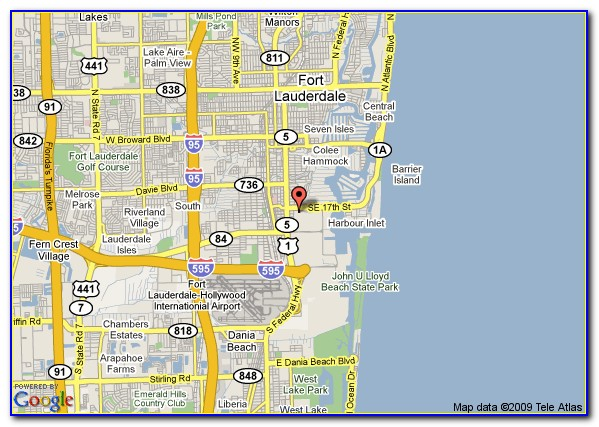 Map Of Marriott Hotels In Fort Lauderdale