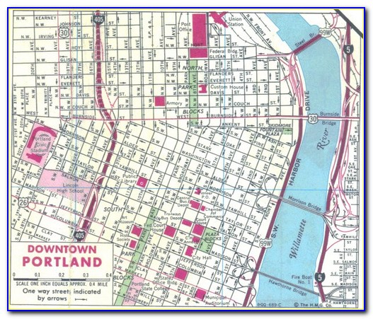 Map Of Marriott Hotels In Portland Oregon