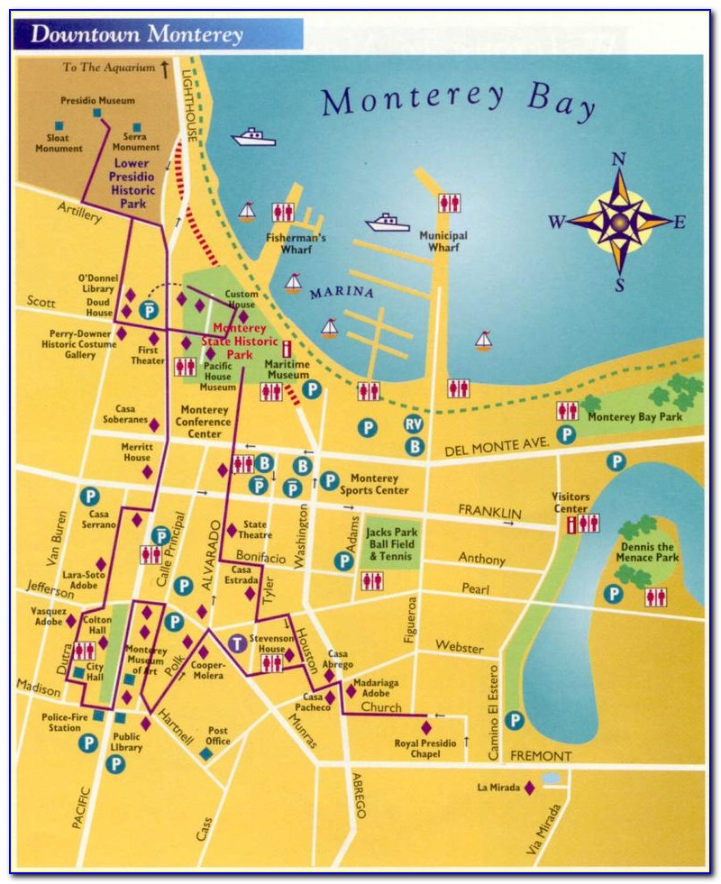 Map Of Monterey Bay Hotels