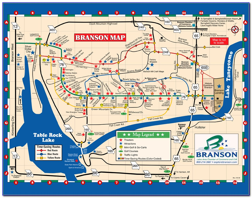 Map Of Motels In Branson Mo