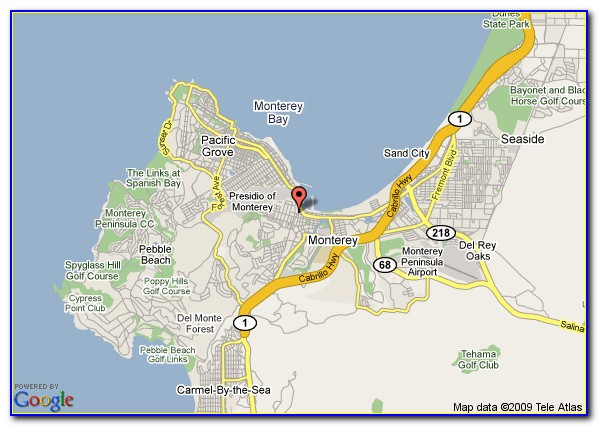 Map Of Motels In Monterey Ca