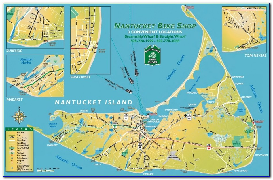 Map Of Nantucket Ma Beaches