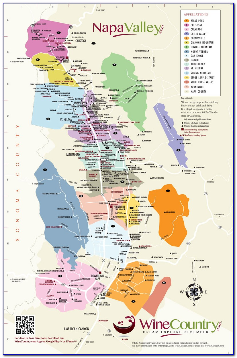 Map Of Napa Valley Wine Train