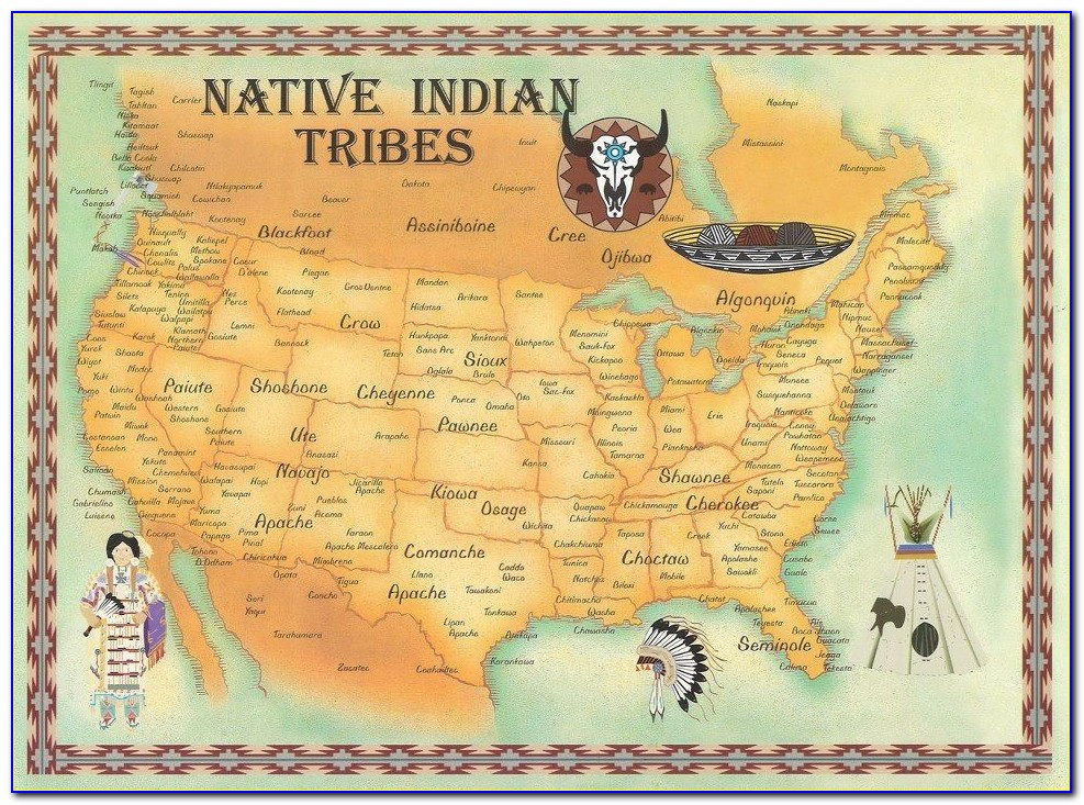 Map Of Native American Tribes Before Colonization