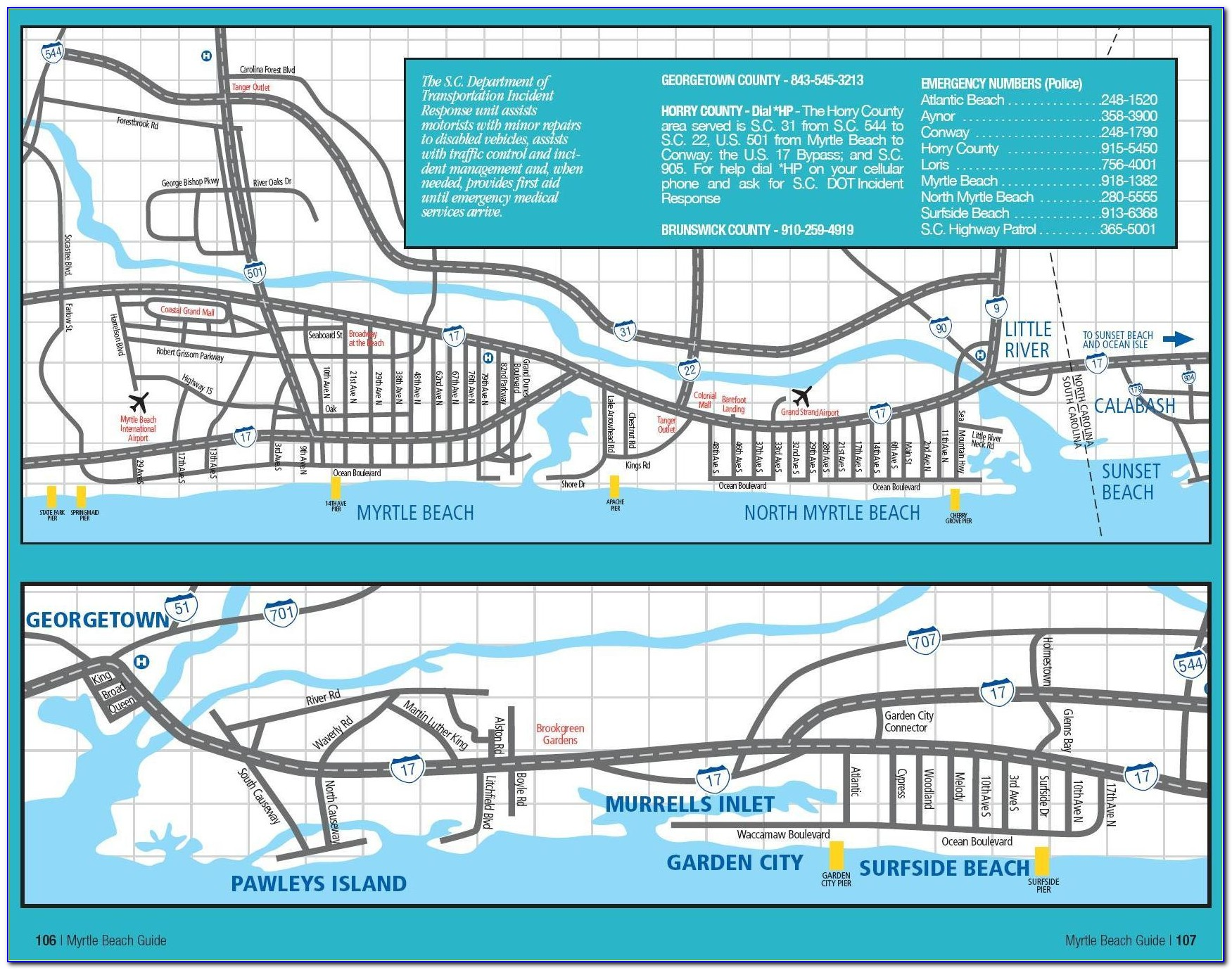 Map Of Oceanfront Hotels In Myrtle Beach