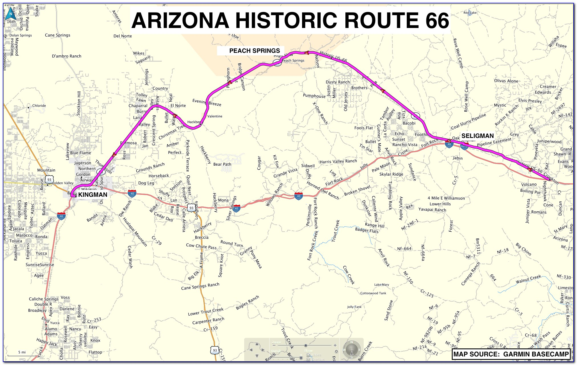 Map Of Old Route 66 California
