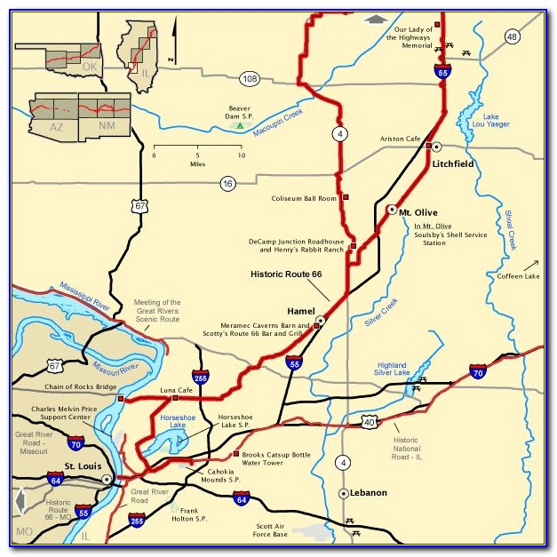 Map Of Old Route 666