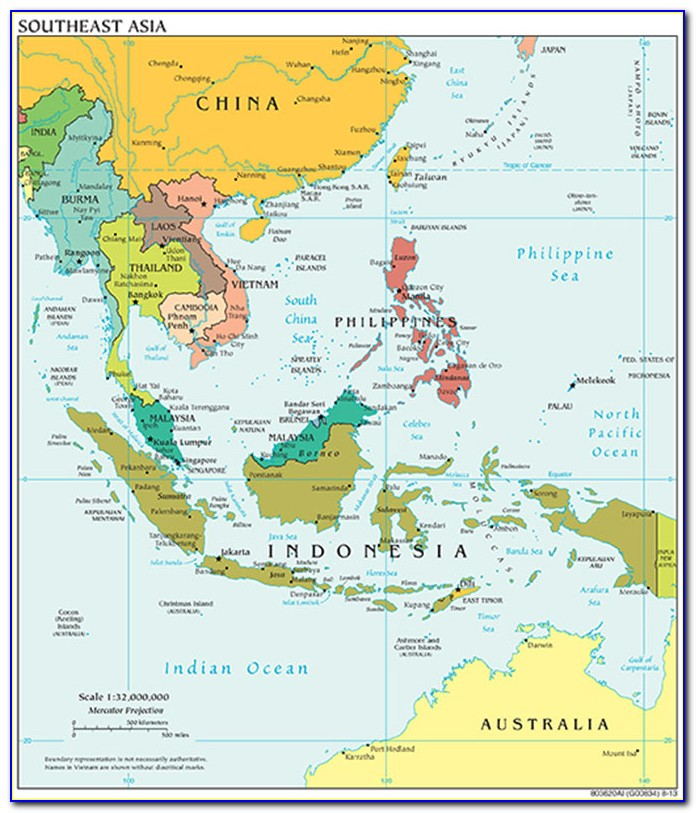 Map Of Southeast Asian Countries