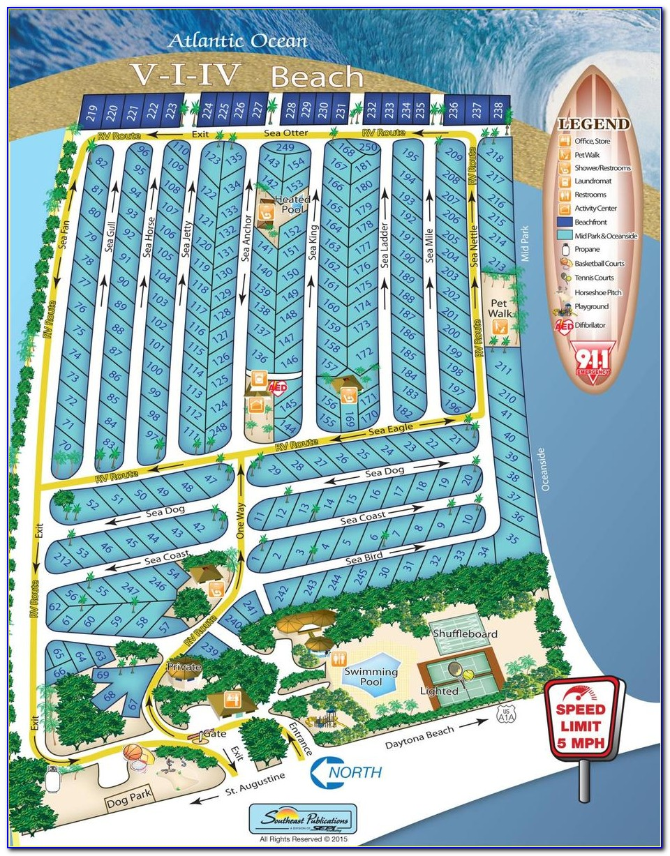Map Of St Augustine Beach Hotels