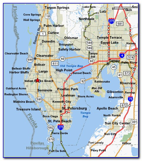 Map Of St Pete Beach Fl Hotels