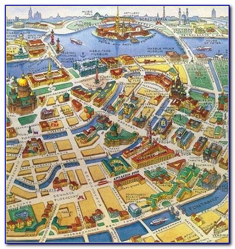 Map Of St Petersburg Russia Attractions