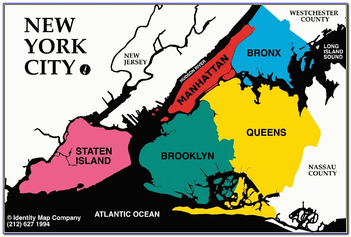 Map Of The 5 Boroughs Of New York City