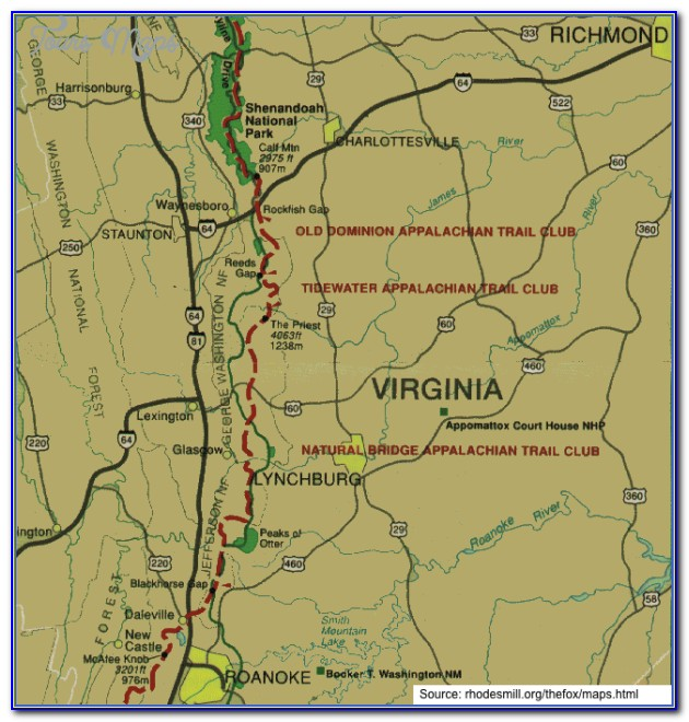 Map Of The Appalachian Trail In New York