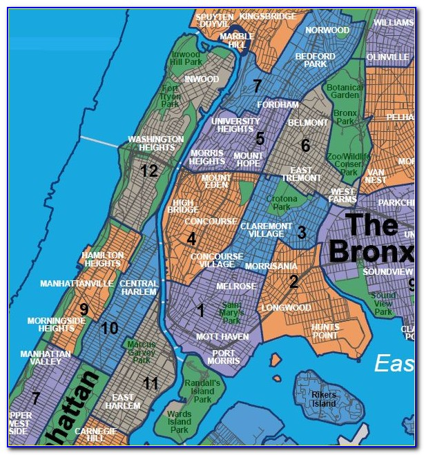 Map Of The Bronx By Zip Code
