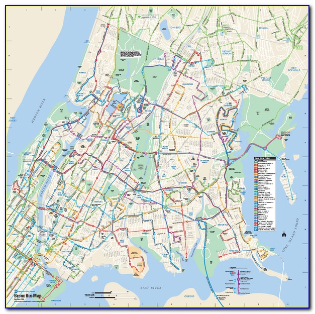 Map Of The Bronx Nyc