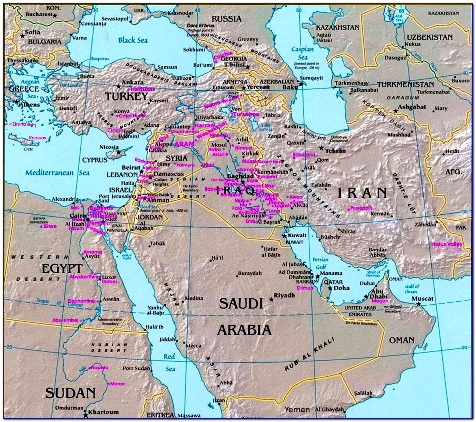 Map Of The Middle East In Ancient Times