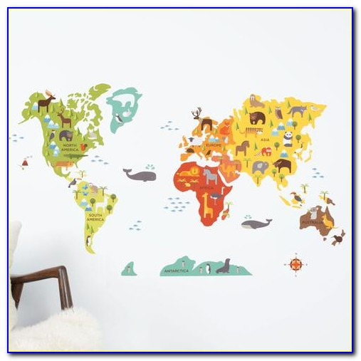 Map Of The World Car Decal