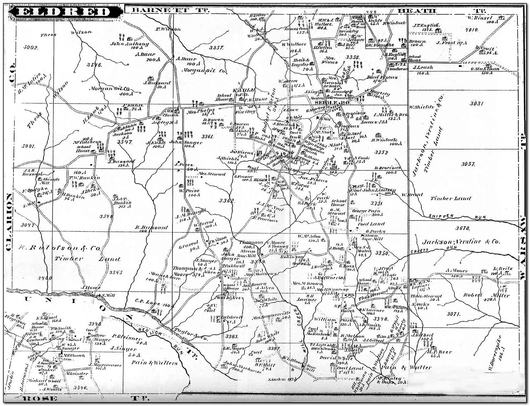 Map Of Townships In Jefferson County Pa