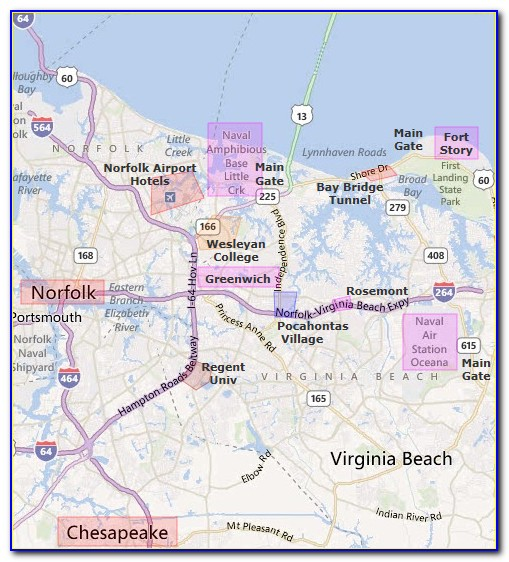 Map Of Va Beach Boardwalk Hotels