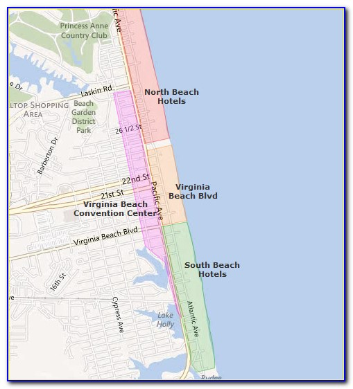 Map Of Va Beach Hotels