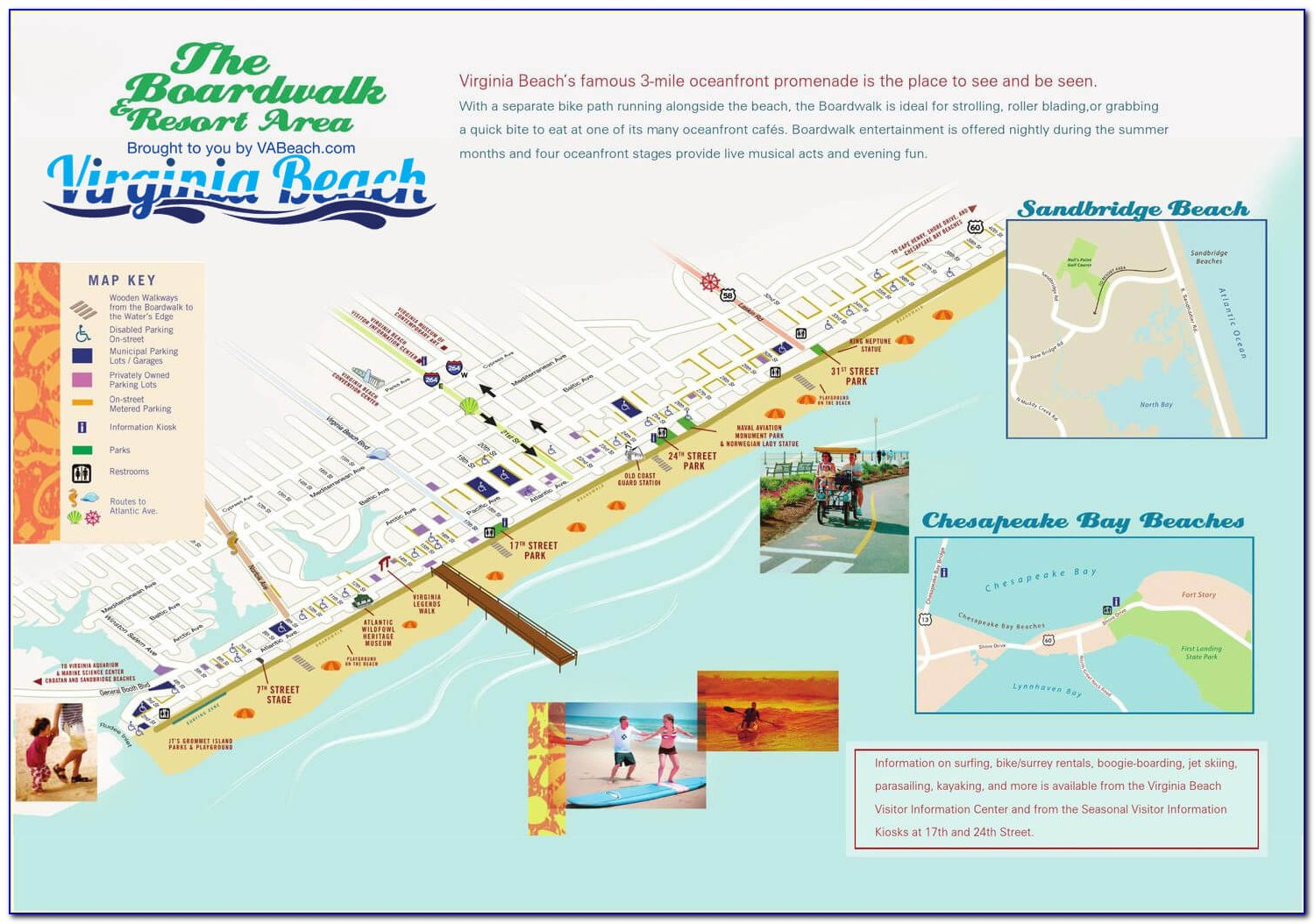 Map Of Virginia Beach Hotels On The Boardwalk