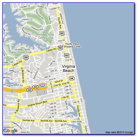 Map Of Virginia Beach Hotels