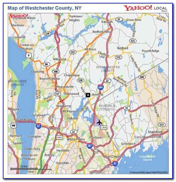 Map Of Westchester County Towns And Villages