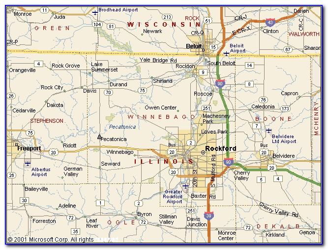 Map Of Winnebago County Il