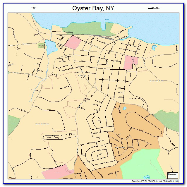 Map Oyster Bay New York