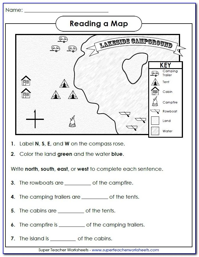 Map Skills For Today Grade 4 Answer Key