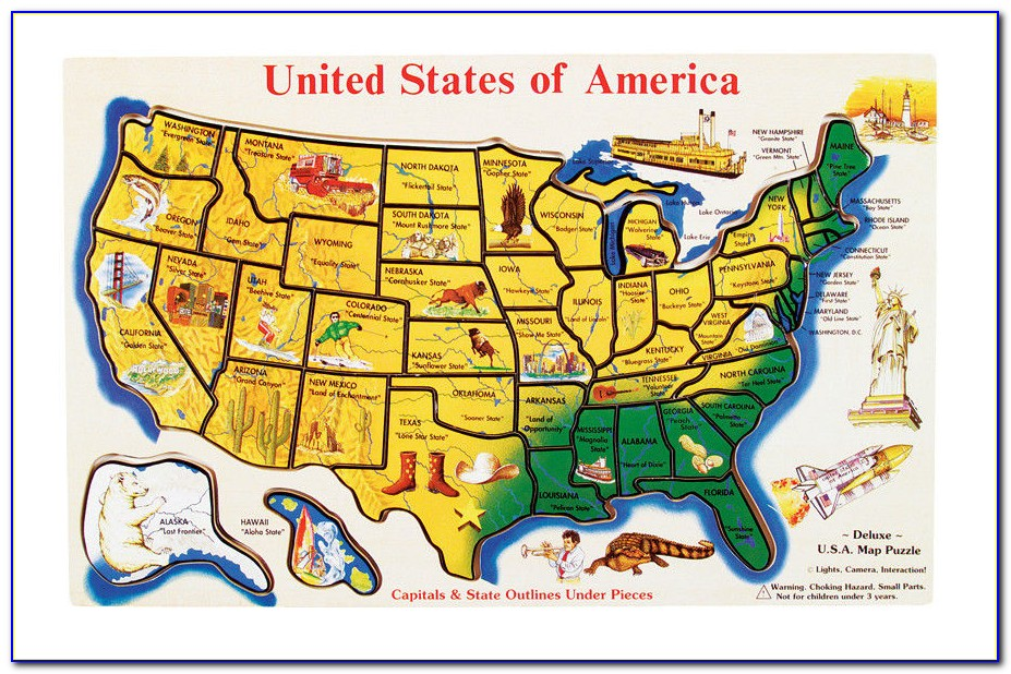 Map Usa Puzzles Online Free