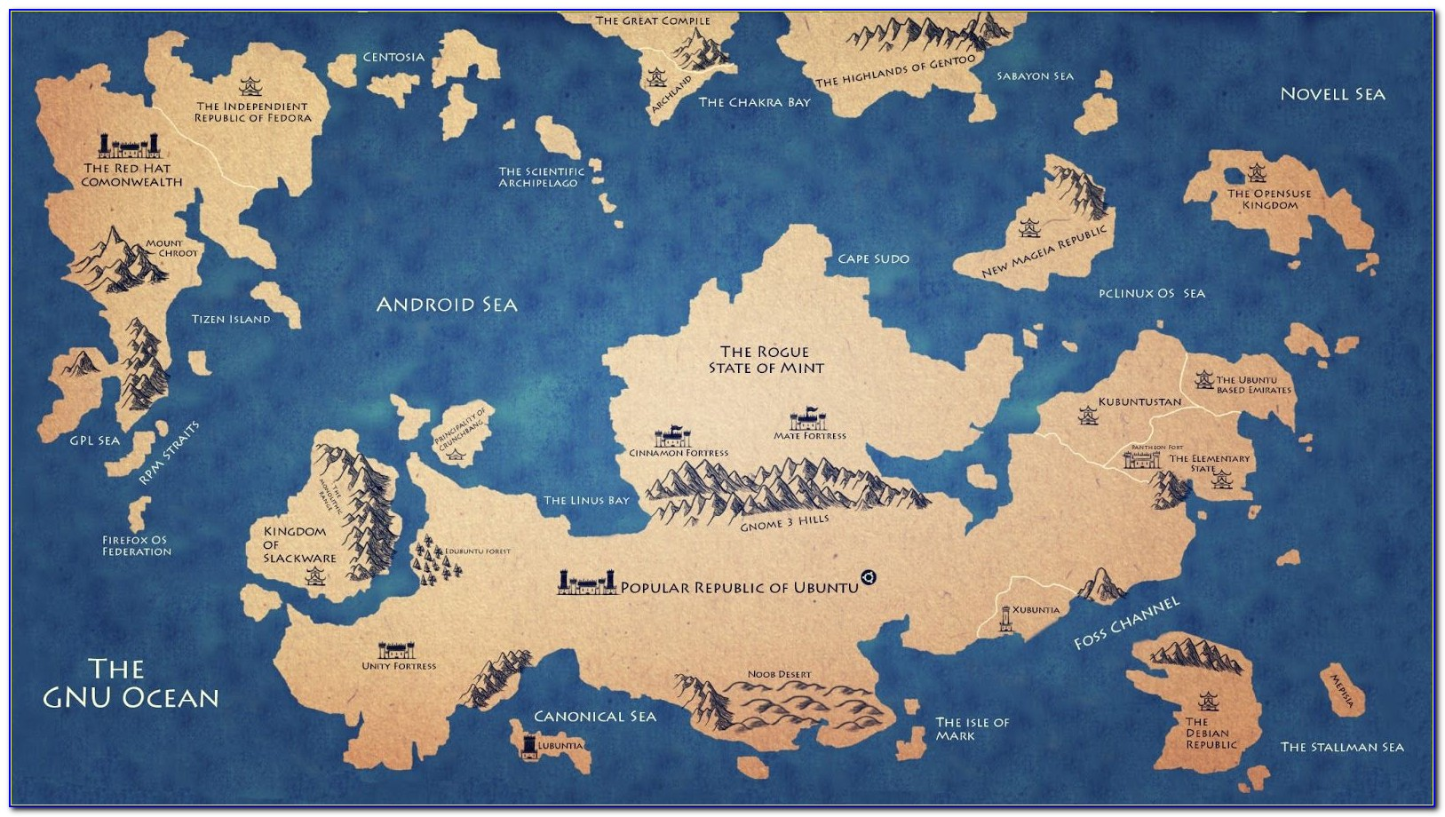 Maps Of Game Of Thrones World